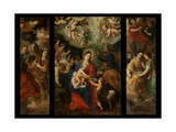 Holy Family with Angels Giclée-Druck von Hendrik van the Elder Balen