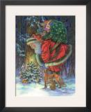 Santa's Star Prints by Donna Race