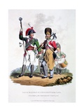 Uniforms of a Drum Major of a Regiment of the Line - Pioneer of the Grenadier Company, from… Giclee Print by Charles Hamilton Smith