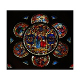 Window W14 Depicting the Coronation of the Virgin Giclee Print