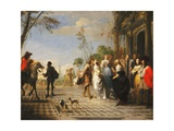 The Parable of the Prodigal Son - the Prodigal Son Leaving Home Giclee Print by Hieronymus Janssens