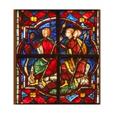 Window W212 Depicting Soldiers Observe St John the Baptist Preaching Giclee Print