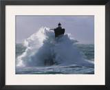 Phare du Four lors d'une tempete Prints by Jean Guichard