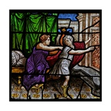 Window W25 Depicting a Scene from the Story of the Joseph: with Potiphar's Wife Giclee Print