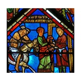 Window W15 Depicting a Scene in the Good Samaritan Window: the Samaritan Takes the Pilgrim to an… Giclée-Druck