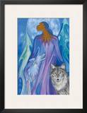 Wolf Guardian Prints by Maxine Noel