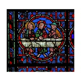 Window W02 Depicting a Resurrection Scene: the Supper at Emmaus Giclee Print