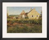 Vineyard Cottages in Jully Prints by Leonard Wren