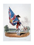 Uniform of an Officer of the Guards in Full Dress with Colours, from 'Costume of the British… Giclee Print by Charles Hamilton Smith
