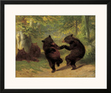 Dancing Bears Poster by William Holbrook Beard