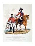 Uniforms of Soldiers of the Royal Staff Corps, from 'Costume of the British Empire, According to… Giclee Print by Charles Hamilton Smith