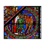 Window W15 Depicting the Good Samaritan Window: Adam and Eve Expelled from Eden Giclee Print