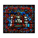 Window W17 Depicting a Scene from the Prodigal Son Story: Courtesans Attract Him Giclee Print