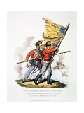 Uniform and Colours of the 9th or East Norfolk Regiment of Infantry, from 'Costume of the British… Giclee Print by Charles Hamilton Smith