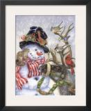 Frosty, Prance And Friends Prints by Donna Race