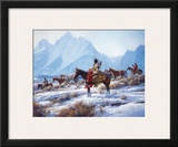 Apsaalooke Horse Hunters Print by Martin Grelle