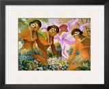 Hawaiian Hula, Women with Tropical Flowers Posters by Warren Rapozo