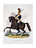 Uniform of the Royal Horse Guards 'The Blues', from 'Costume of the British Empire, According to… Giclee Print by Charles Hamilton Smith