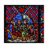 Window W01 Depicting the The Magi Depart from the Nativity Giclee Print