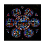 Window W121 Depicting Solomon Surrounded by Knights Giclee Print