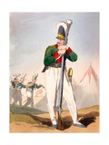 Russian Soldier, Illustration from 'The Manners, Customs and Amusements of the Russians' by James… Giclee Print by John Augustus Atkinson