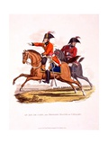Uniforms of an Aide De Camp, and of a Brigade Major of Cavalry, from 'Costume of the British… Giclee Print by Charles Hamilton Smith