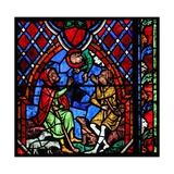 Window W01 Depicting the Annunciation to Shepherds Giclee Print