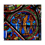 Window W15 Depicting the Good Samaritan Window: Adam and Eve Eat the Forbidden Fruit Giclee Print