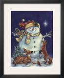 Jolly Snowman Poster by Donna Race