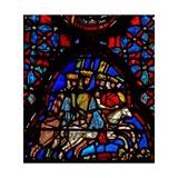 Window W4 Amorite Kings Flee Josh X 19-20 Giclée-Druck