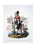 Uniform of a Private of the 2nd or Royal North British Dragoons, 'The Greys', from 'Costume of… Giclee Print by Charles Hamilton Smith