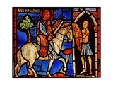 Depicting St Martin Dividing His Cloak (Ex Varennes-Jarcy - Originally from the Abbey De Gercy) Giclee Print