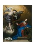 Annunciation Giclée-tryk af Massimo Stanzione