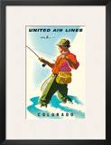 United Air Lines: Colorado, c.1950s Art by Joseph Binder