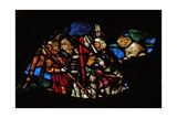 The West Rose Window Depicting a Scene from the Book of Revelation: Four Angels of the Euphrates… Giclee Print