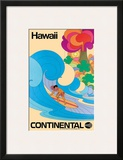 Continental Hawaii Surfer c.1960's Posters