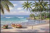 Tropical Bay Print by Sung Kim