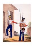 Uniform of the 8th Infantry Regiment of the Swiss Royal Guard, from 'Collection Des Uniforms De… Giclee Print by Charles Aubry