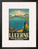 Lucerne Lovely Lake Print by Otto Landolt