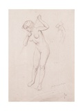 Figure Study for 'The Slaying of Orpheus' Giclee Print by Felix Edouard Vallotton