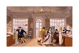 Lending Library, 1813 Giclee Print by James Green