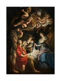 Birth of Christ, Adoration of the Shepherds Giclee Print by Peter Paul Rubens