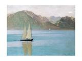 Boat on Lake Geneva, 1892 Giclee Print by Felix Edouard Vallotton