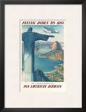 Pan American: Flying Down to Rio, c.1930s Prints by Paul George Lawler