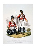 Uniform of the Grenadiers and Light Infantry of the 20th or Worcestershire Regiment, from… Giclee Print by Charles Hamilton Smith