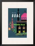 British Overseas Airways Corporation: Fly by BOAC - Middle East, c.1954 Poster