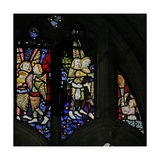 Window S1 Depicting Musician Angels with Lutes Giclee Print