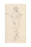 Standing Nude Facing Forward Giclee Print by Félix Vallotton