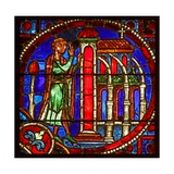 Window W1 Depicting a Scene from the Theophilus Story: He Enters a Church to Repent Giclee Print
