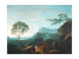 Landscape with Figures Giclee Print by Richard Wilson
